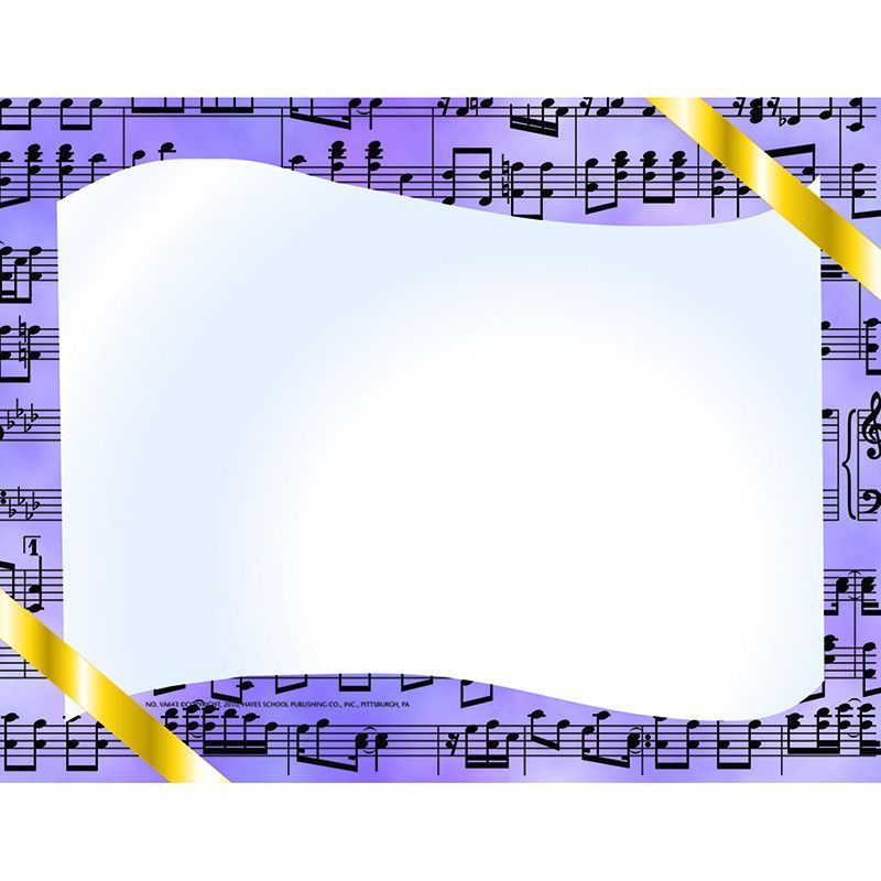 Music certificate border computer – Certificate Borders for Word