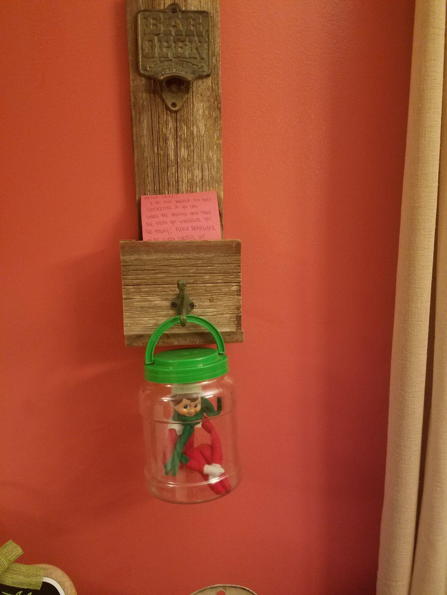 Elf On The Shelf Elf On The Shelf Yellow Tissue Paper Bottle Opener Wall