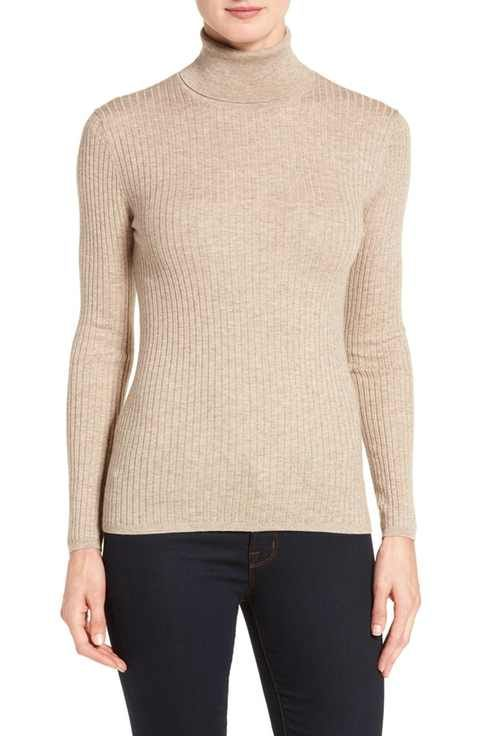 Classiques Entier® Ribbed Turtleneck Sweater (Regular & Petite ...