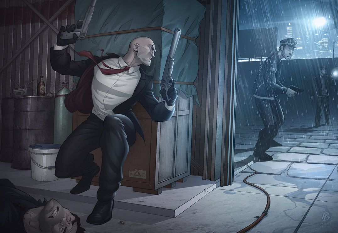 Hitman Absolution Agent 47 Illustration By Patrick Brown One Of