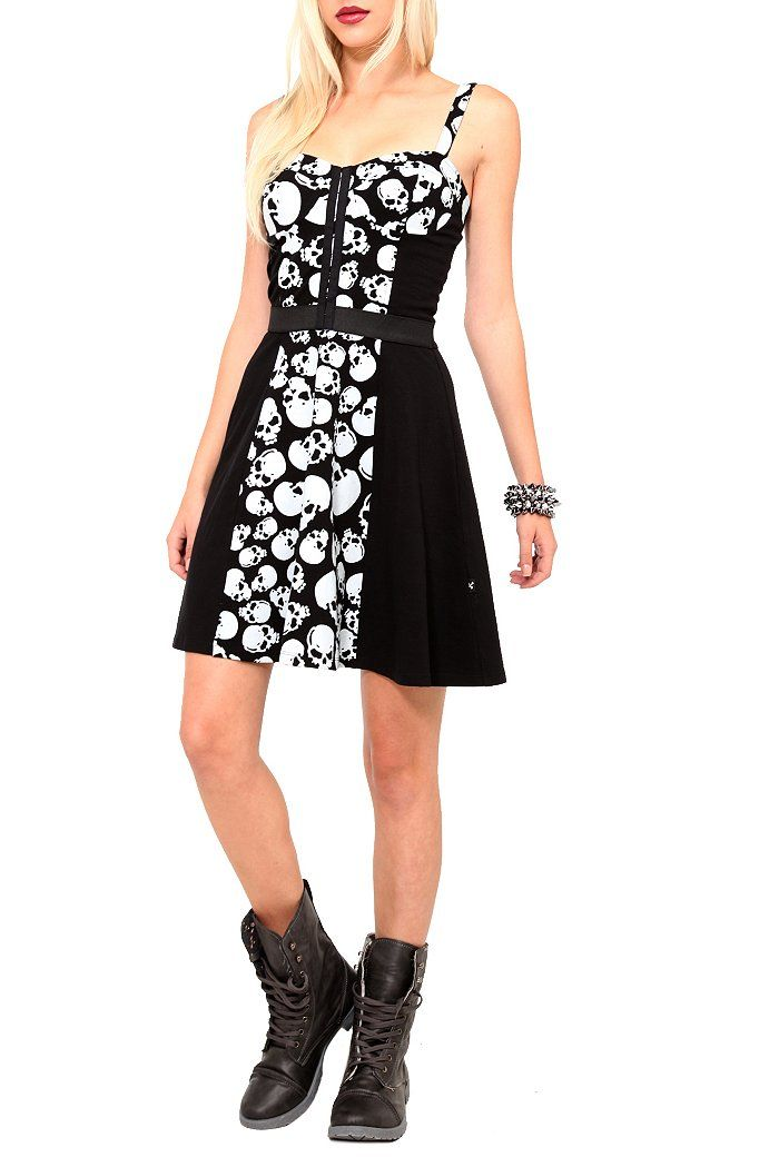 c9e4a894965 Royal Bones Black White Skull Dress  39.50