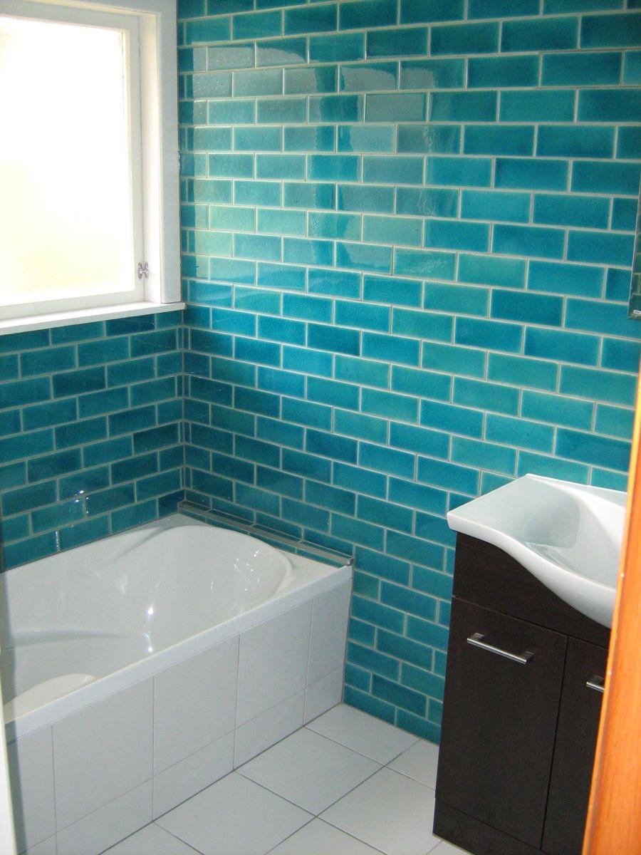 Pin by Noelle Brockbank on Bathrooms | Pinterest | Blue tiles ...