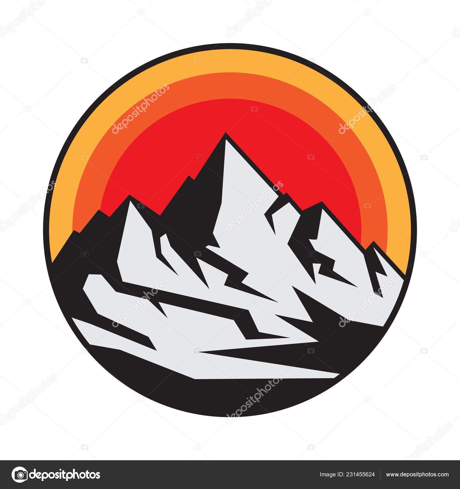 Download Mountain Logo Icon Symbol Design Template Vector Illustration Stock Illustration Mountain Logos Symbol Design Logo Icons