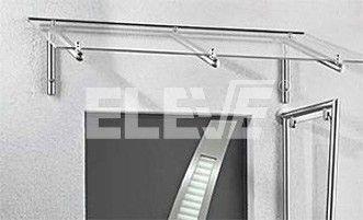 Alero marquesina en acero inoxidable y vidrio laminado casa pinterest - Marquesinas para puertas ikea ...