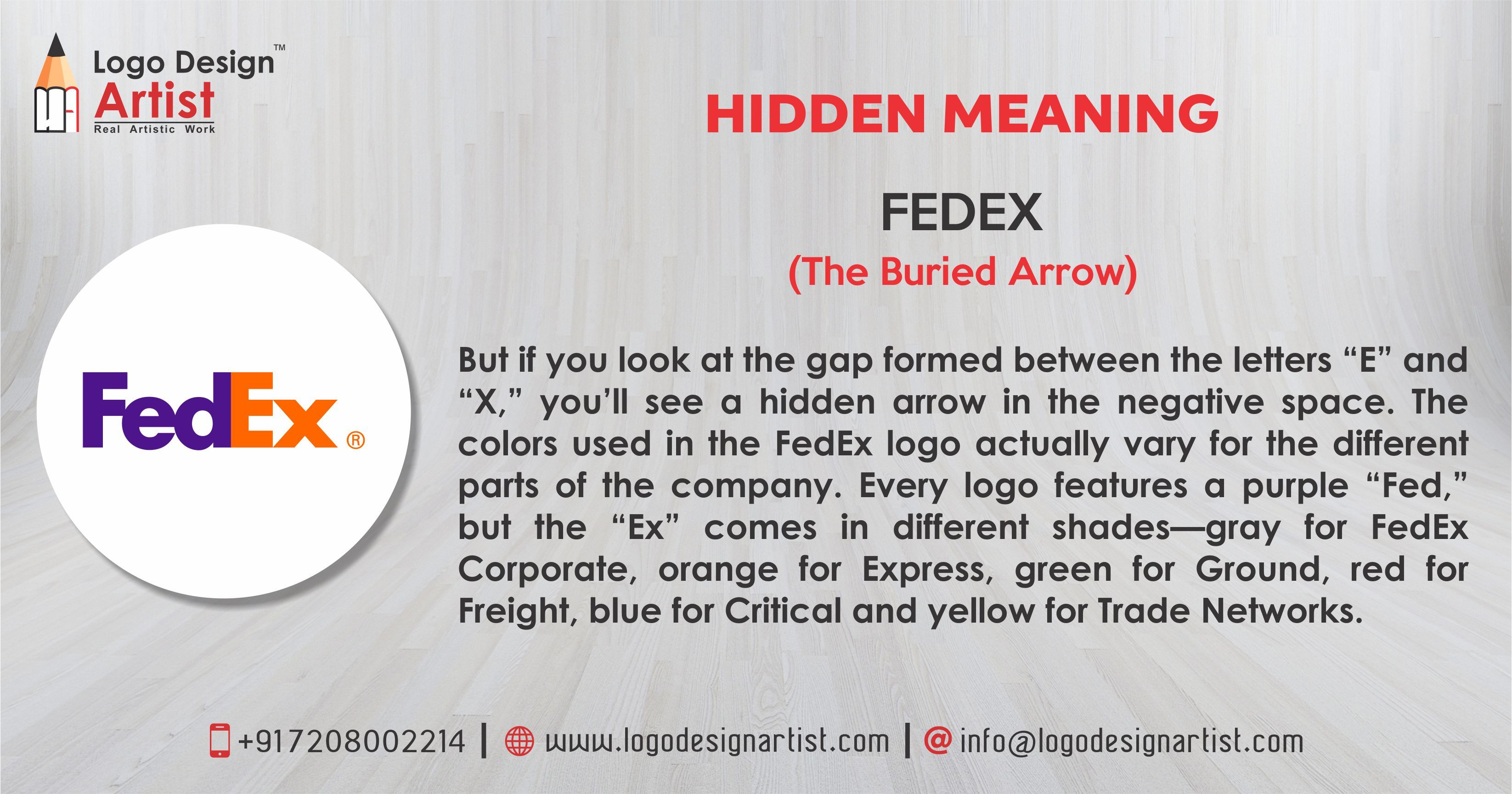 "HIDDEN MEANING OF LOGO ""FEDEX (The Buried Arrow)"" If you"
