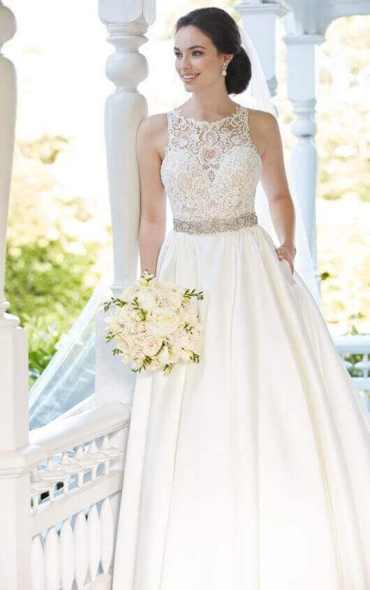 Organza Fit and Flare Wedding Gown | #1 bridal gowns | Pinterest ...