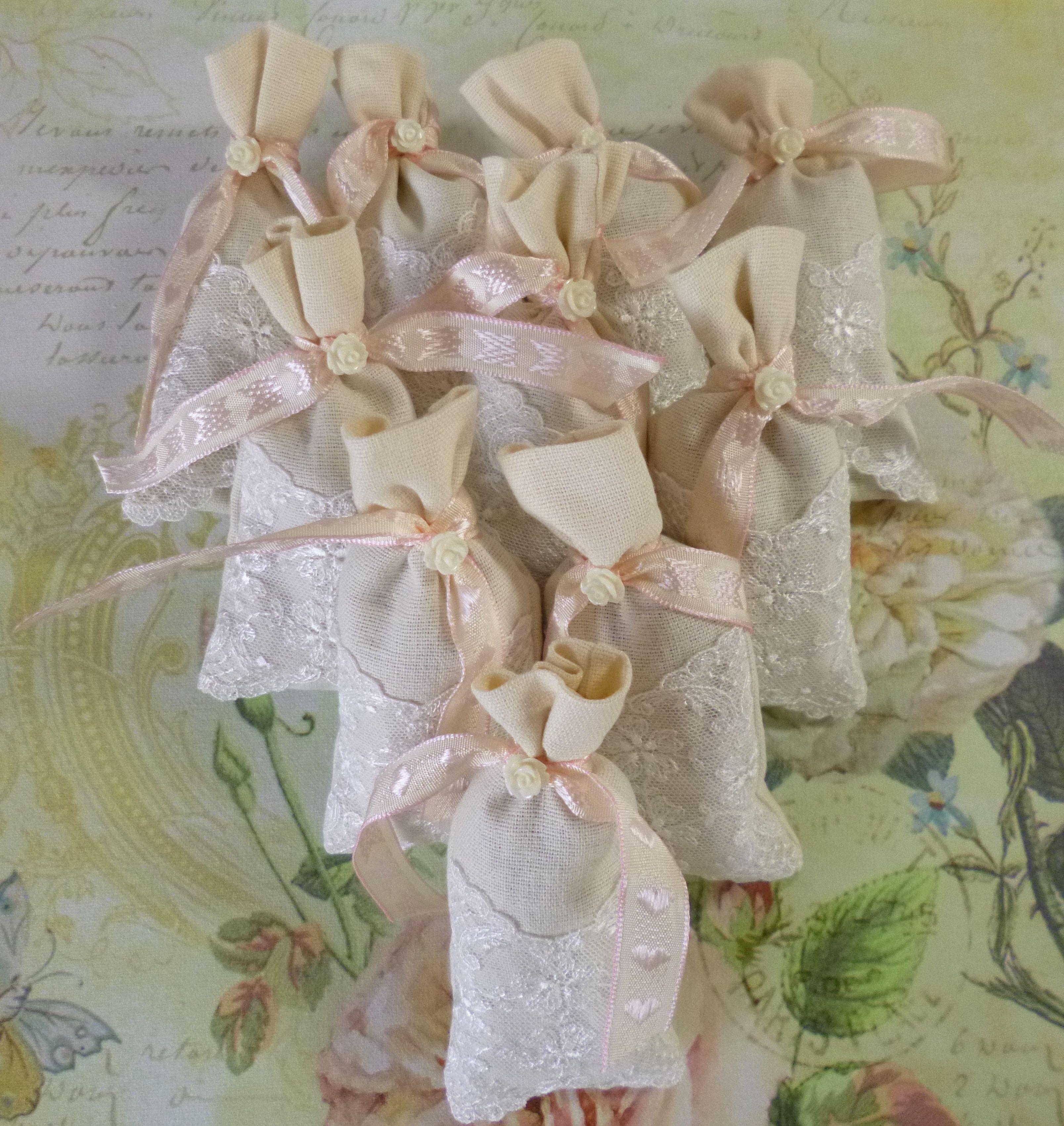 Linen and Lace lavender sachets