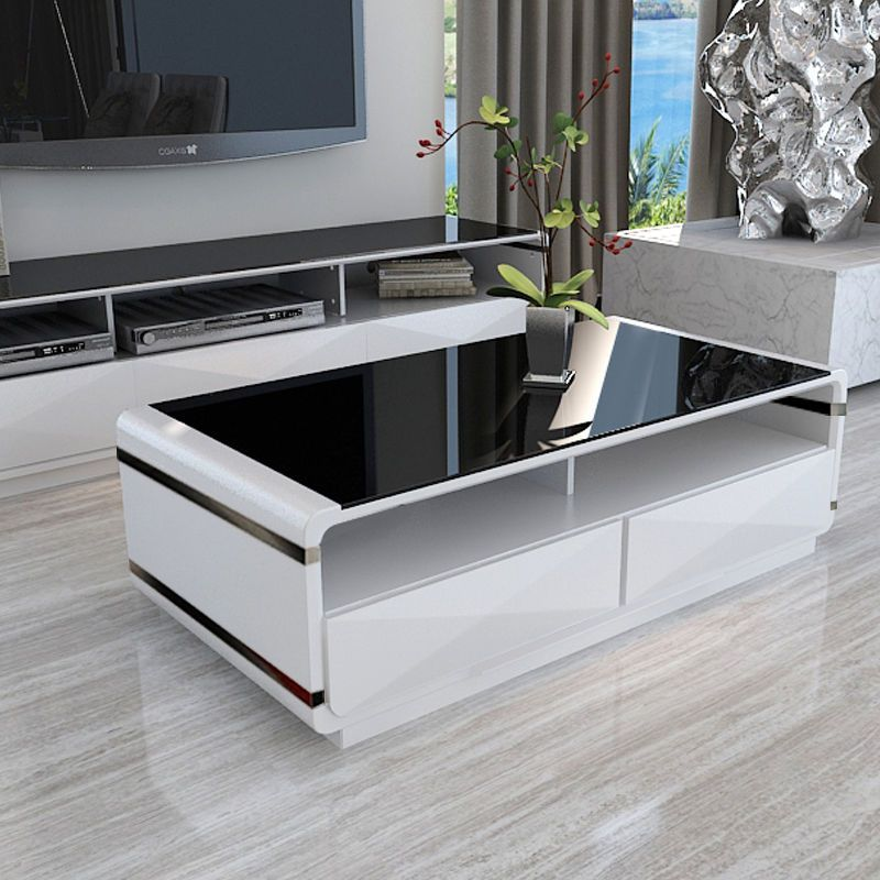 31+ White gloss coffee table with storage drawers evoque ideas