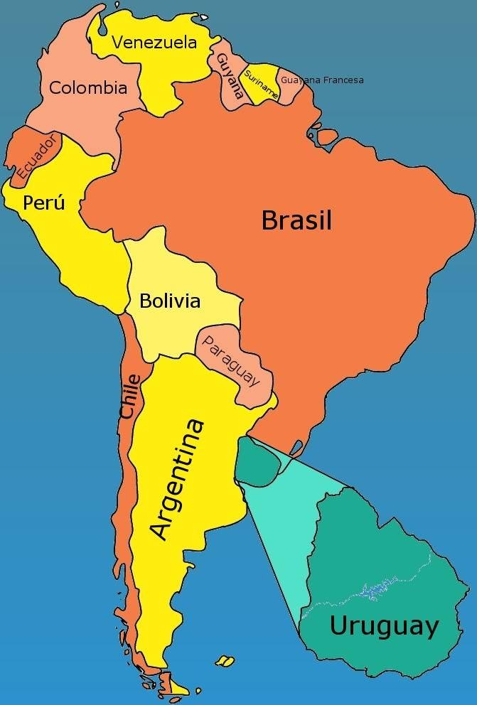 where is uruguay located in south america Google Search Kids