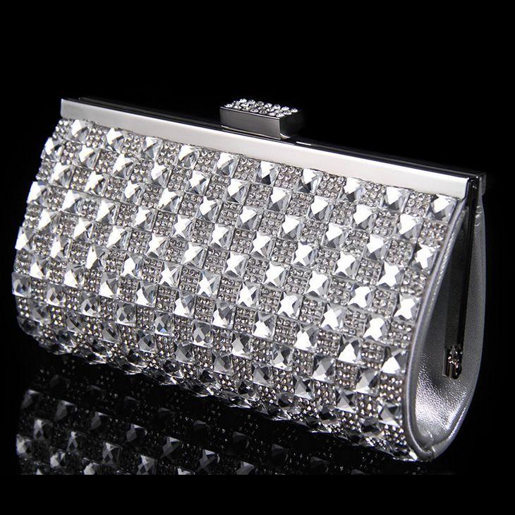 Handbag Clutch Bag On Sale At Reasonable Prices Buy Crystal Women Evening Bags Acrylic Vintage Wedding Bridal Handbags Silver Gold Shoulder