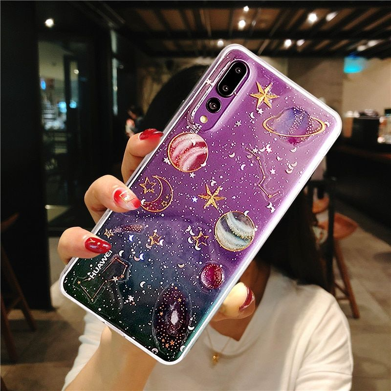 Universe Planet Case For Huawei P30 Case   Diy phone case, Girly ...
