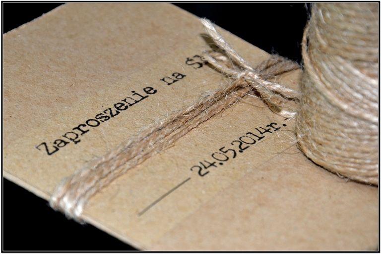 Zaproszenia ślubne Na ślub Rustykalne Vintage 4967687292