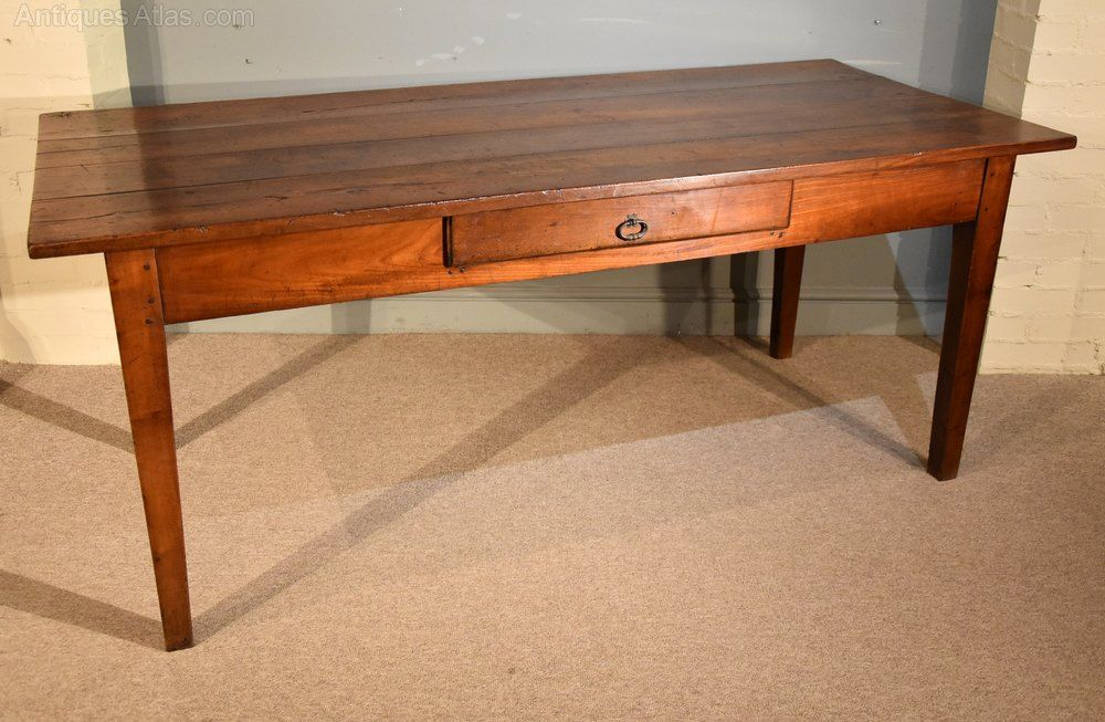 A Lovely French Cherry Wood Farmhouse Table Antiques Atlas Farmhouse Table Cherry Wood Country Kitchen Tables
