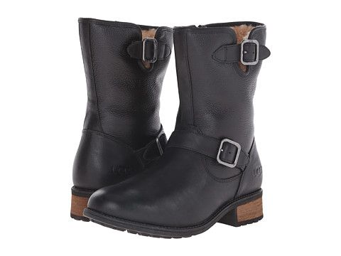 UGG Chaney Black Twinface/Leather - Zappos.com Free Shipping BOTH Ways
