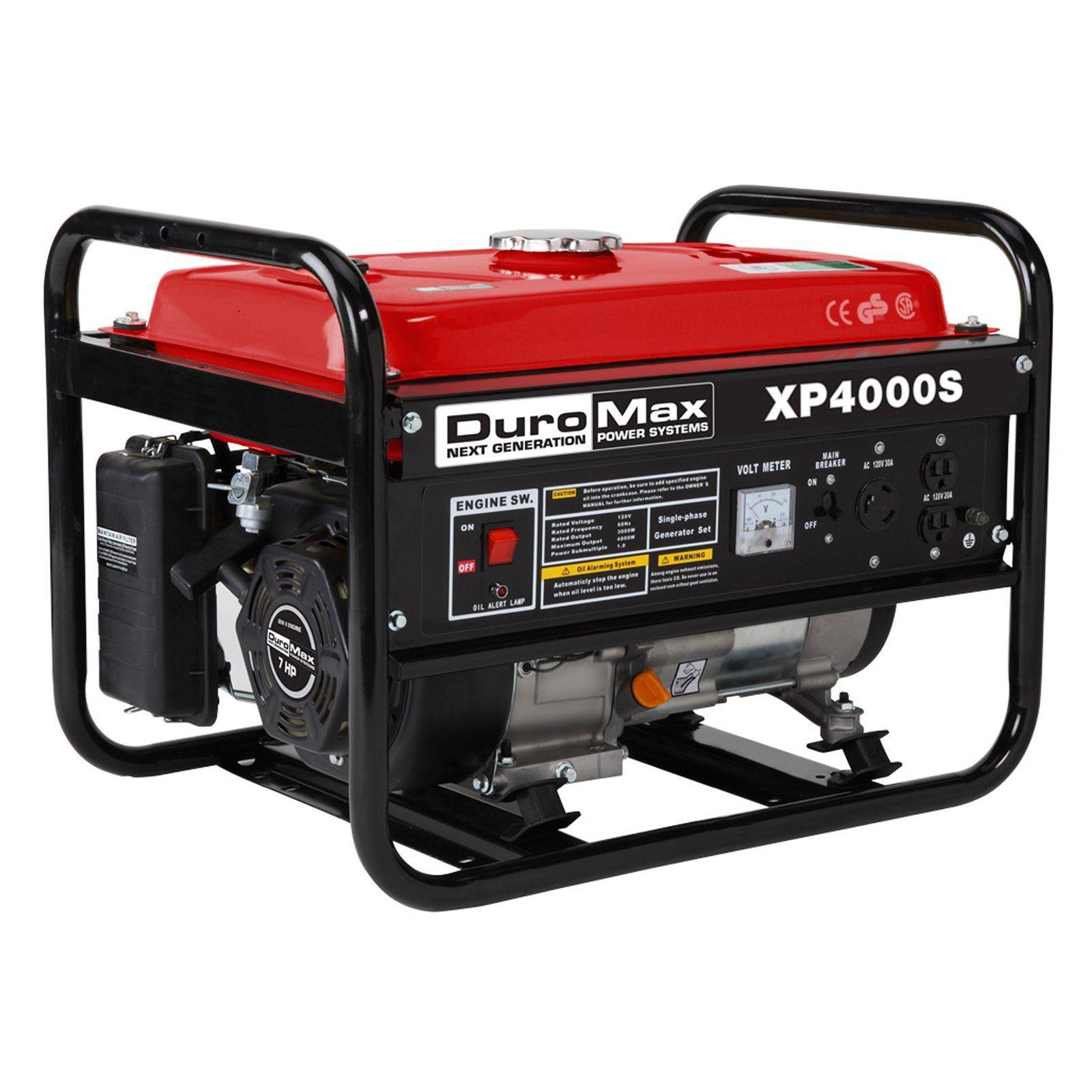 Duromax 4000 Watt 7 0 Hp Gas Engine Portable Rv Generator Xp4000s Best Portable Generator Portable Generator Rv Camping