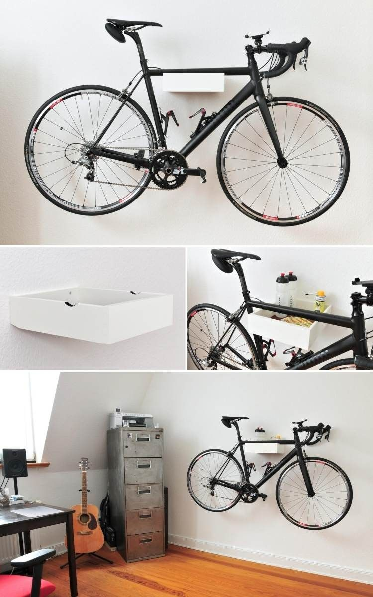Porte v lo mural 30 designs en photos et instructions brico bicycle ideas indoor bike rack - Porte velo appartement ...