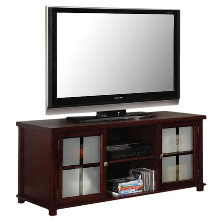 """You should see this 48"""" TV Stand in Dark Cherry on Daily Sales! $151"""