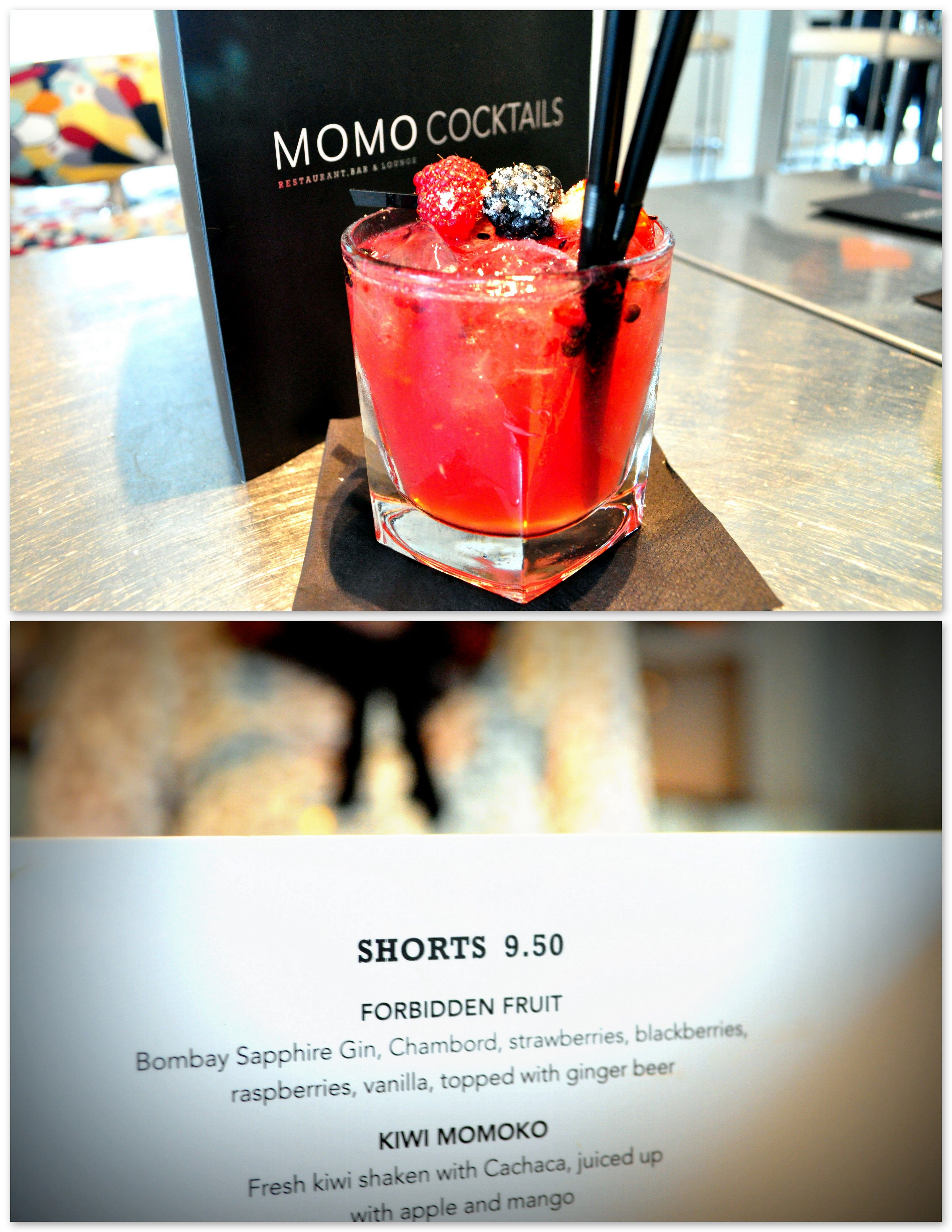 Forbidden Fruit cocktail at MOMO Restaurant, Bar and Lounge in ...