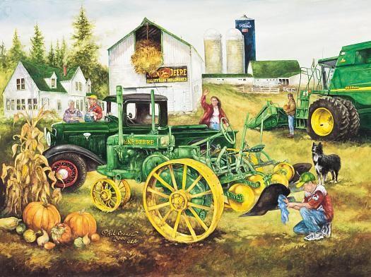 John Deere Tractor Cartoon Prints : John deere clip art trucks prints collector