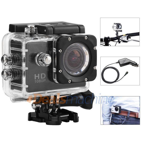SJ4000 1080P FHD Sports DV Camcorder 170 Degree Wide Angle Lens IP68 Waterproof Car DVR Video Recorder with Car Charger http://wphd.co.nf/?pi_item=188822