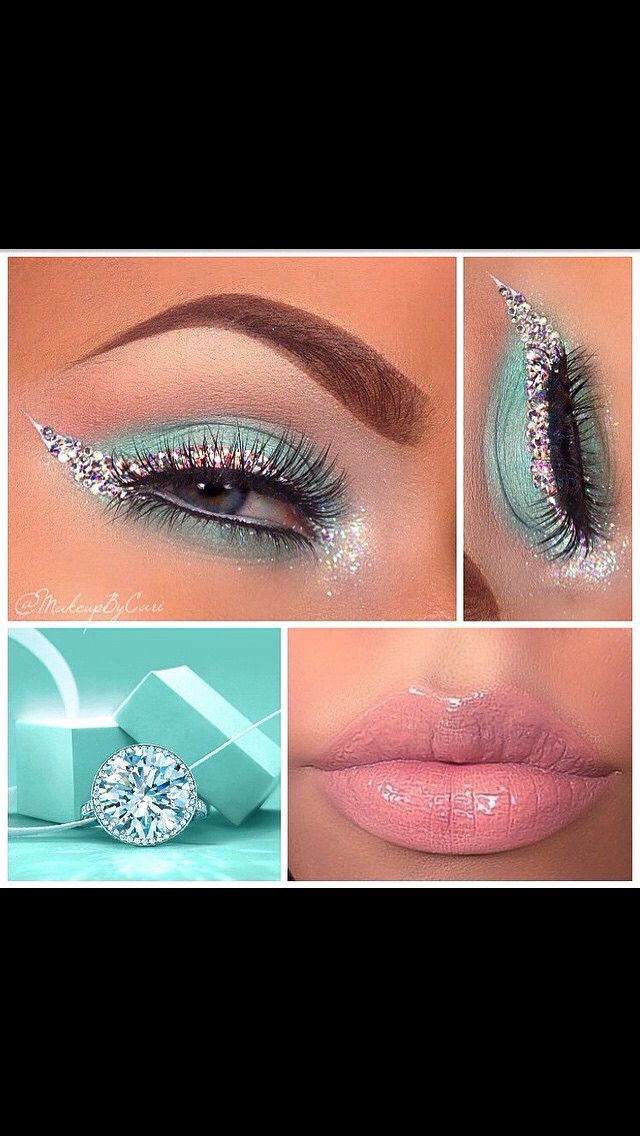 Tiffany&Co inspired makeup