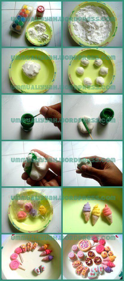 Tutorial Membuat Clay Dari Tepung Mainan Buatan Sendiri