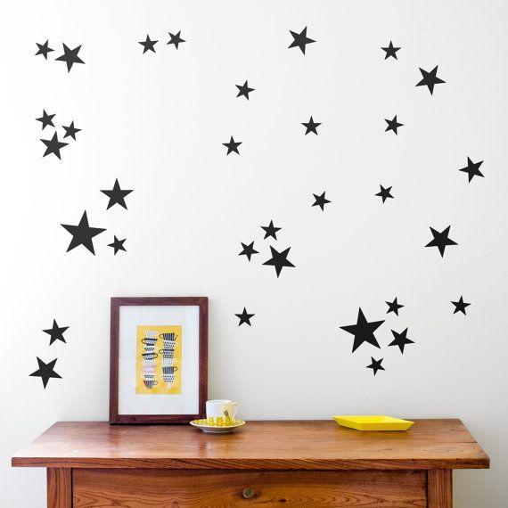 estrellas vinilo decorativo estrellitas vinilo decoracin nios estrellas para paredes estrellas doradas
