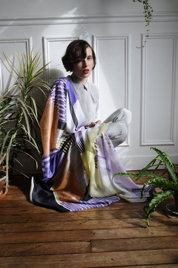 Marquetterie  Hortus collection FW12  photo: Maxime Ballesteros  Model: Luna Maria Cedron
