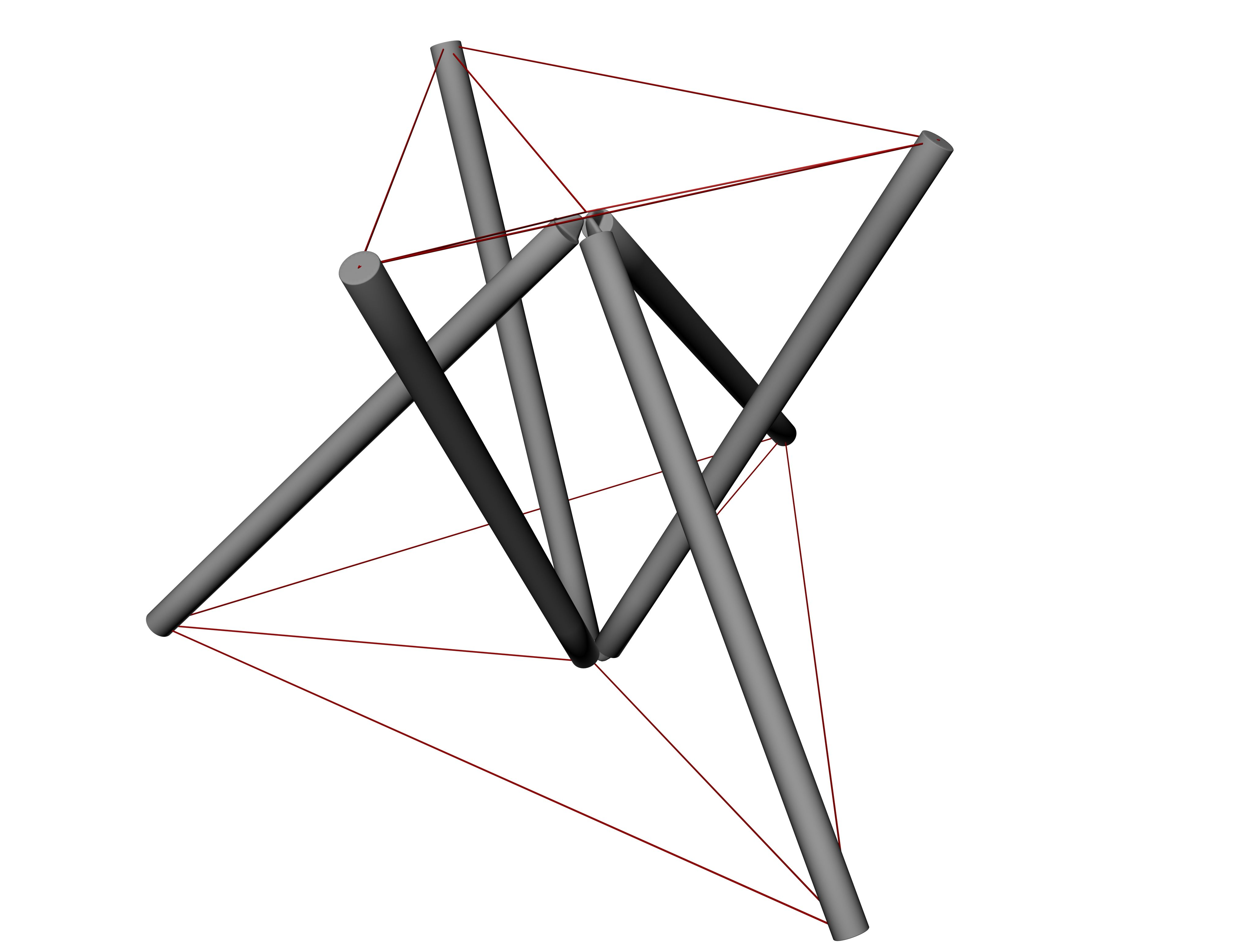 Tensegrity Module Half Way Closed1
