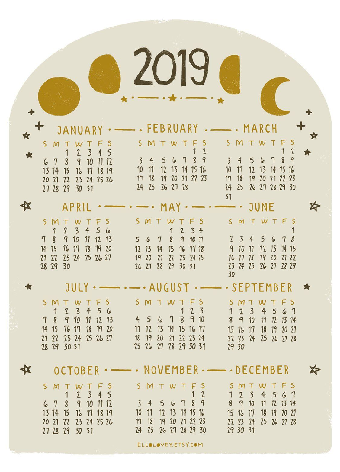 Mini Moon Calendar