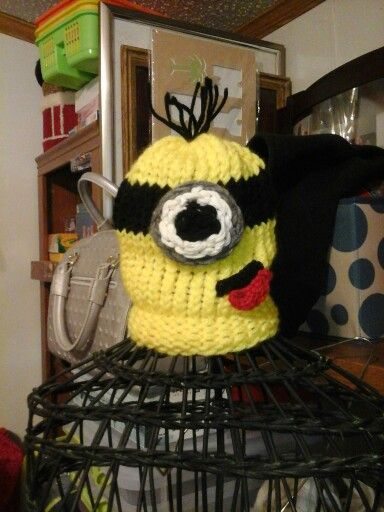 Minion  on loom and some crocheting