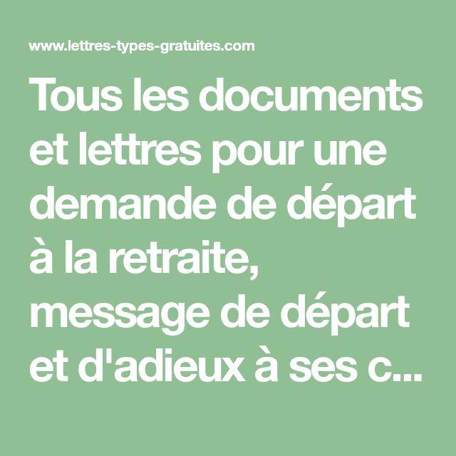 Tous Les Documents Et Lettres Pour Une Demande De Départ à