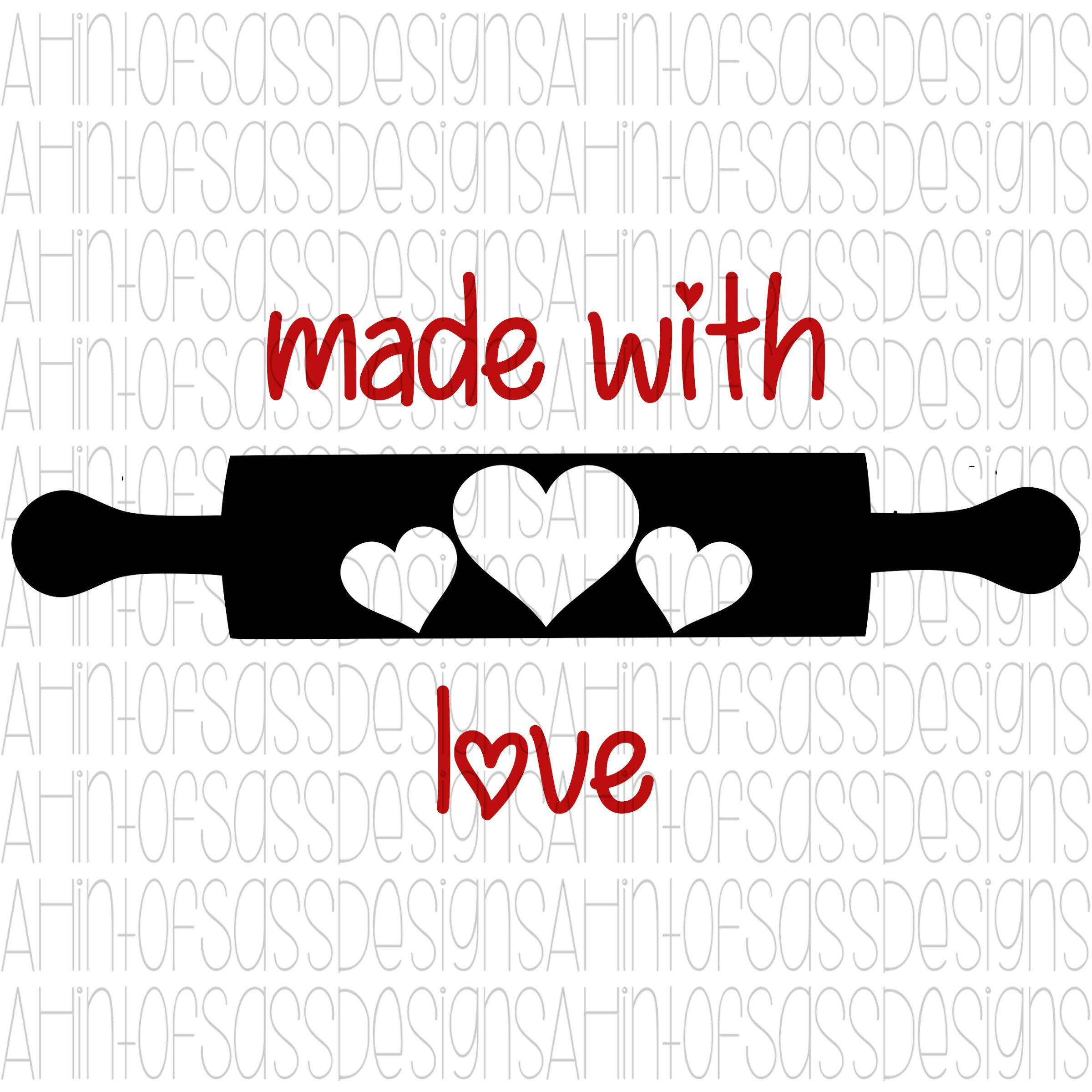 Download Made With Love    Valentine's Day    SVG    PNG ...