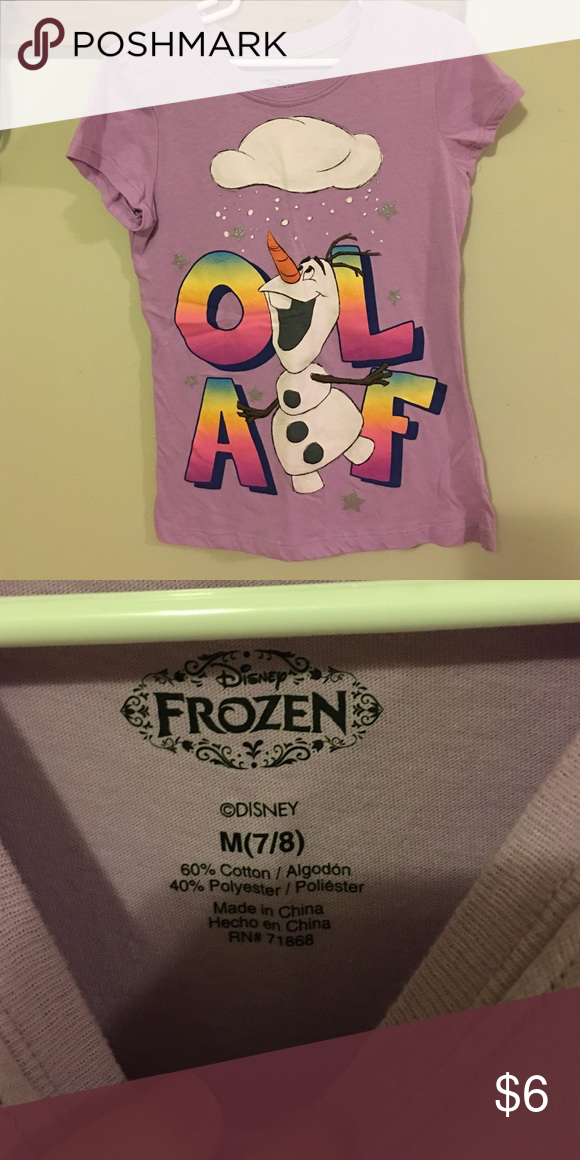 Frozen/Olaf Shirt NWOT, Olaf shirt. My daughter never got to wear it. The tags were removed and she never put it on. I love to bundle so take a look at my other listings :) Disney Shirts & Tops Tees - Short Sleeve