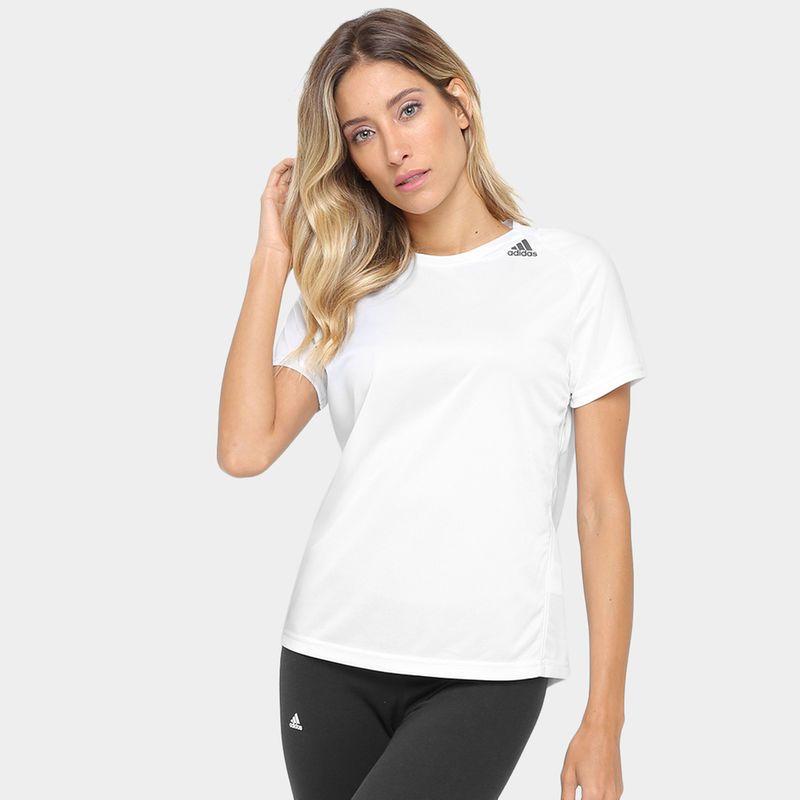 76a14d2cb3 Camiseta Adidas D2M Lose Feminina - Branco