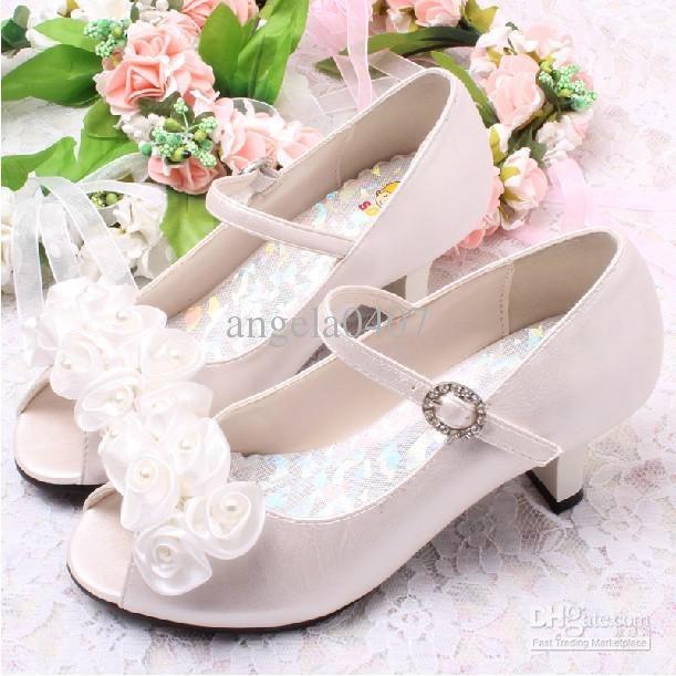 Trop Beau Kids Dress Shoes Girls High Heels Kids Wedding Shoes