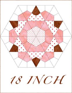 Rose Star 18 Inch Quilt Block Patterns Pieced