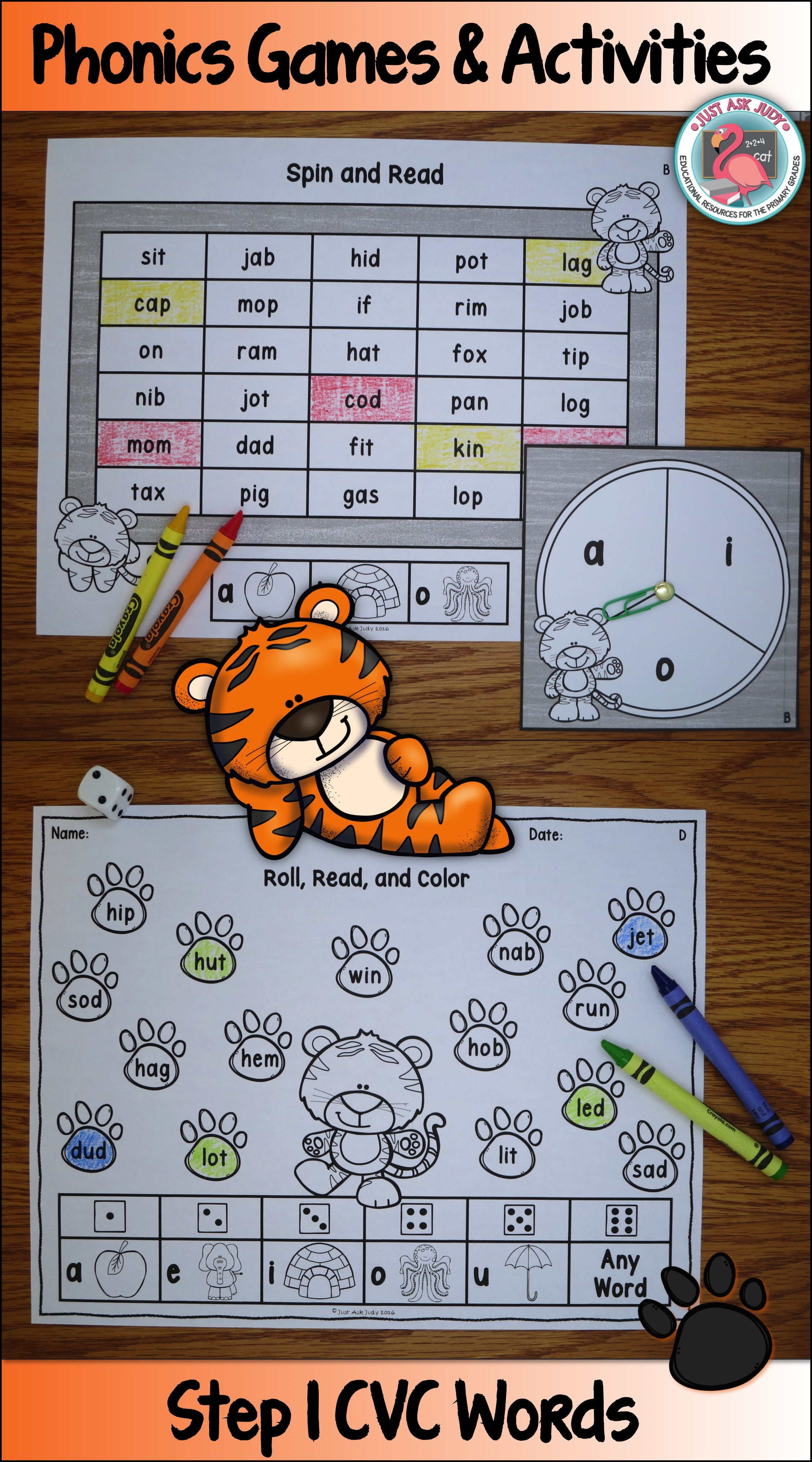 Phonics Games and Activities with CVC Words | Schule