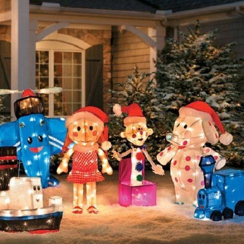 Rudolph Misfit Toys Set Of 6 Outdoor Christmas Tinsel Sculpture Yard Decor Christmas Yard Decorations Misfit Toys Outdoor Christmas Decorations