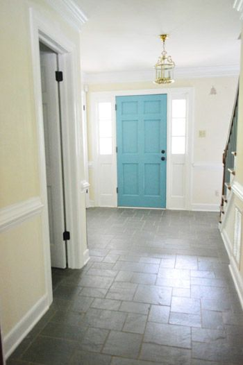 White Interior Front Door painting the back of your front door a bold color | bright colours