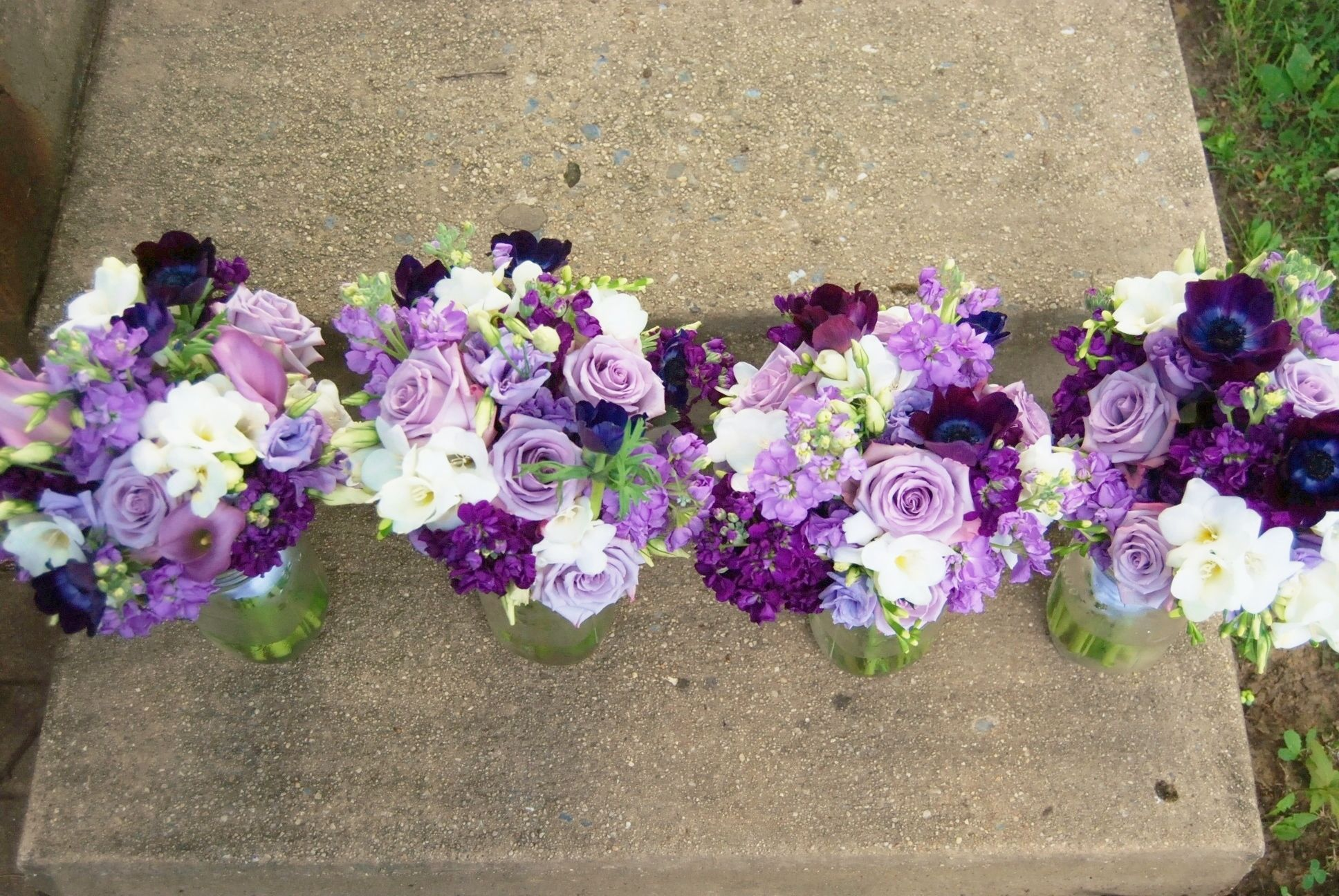 For the bridesmaids white lavender and purple wedding bouquets for the bridesmaids white lavender and purple wedding bouquets izmirmasajfo