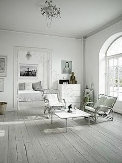 #white living room