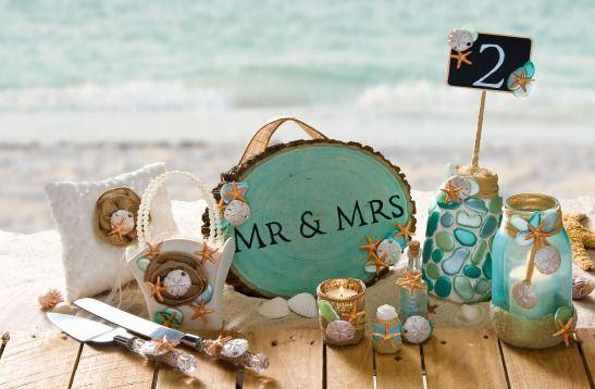 10 DIY Beach Wedding Projects with Mod Podge and Mod Melt Seashells