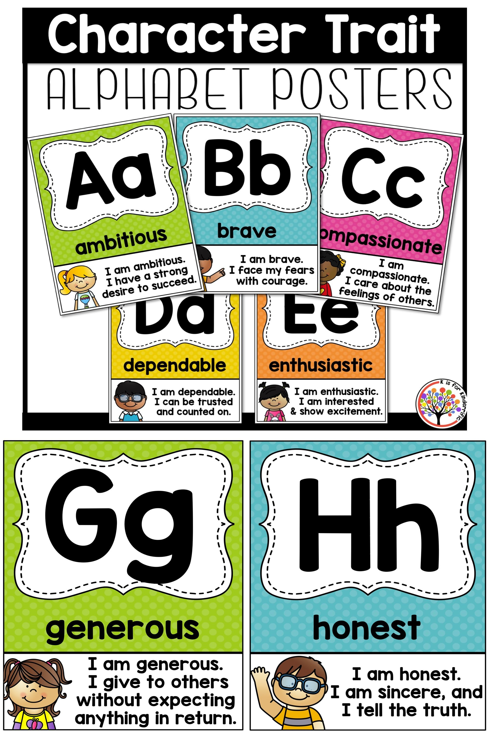 Character Trait Alphabet Posters With Images