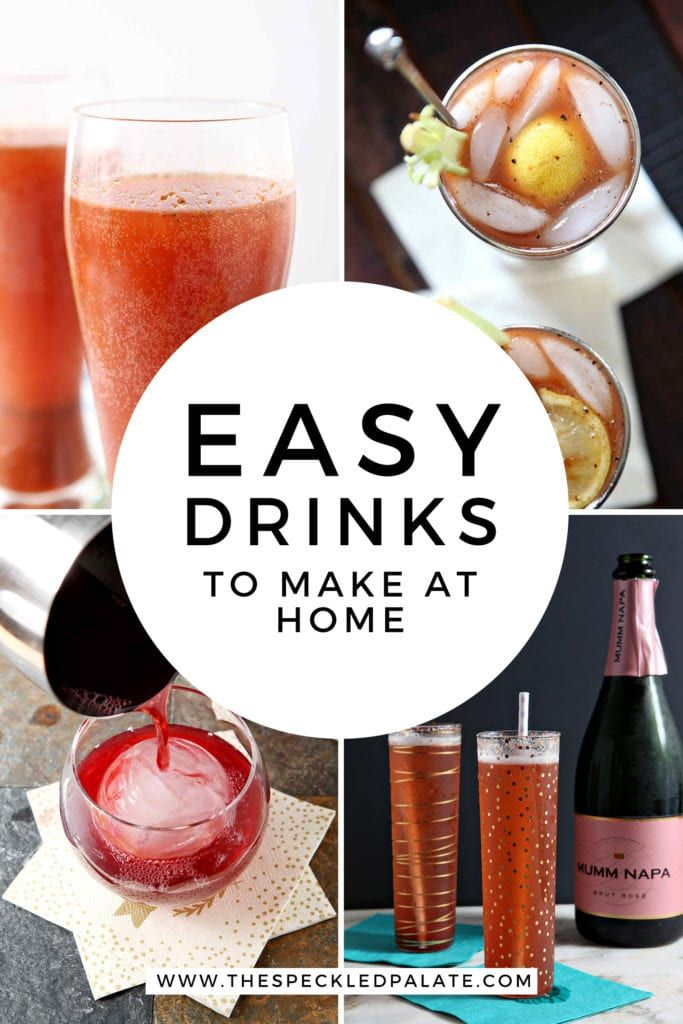 Simple Cocktail Recipes to Make at Home | The Speckled Palate
