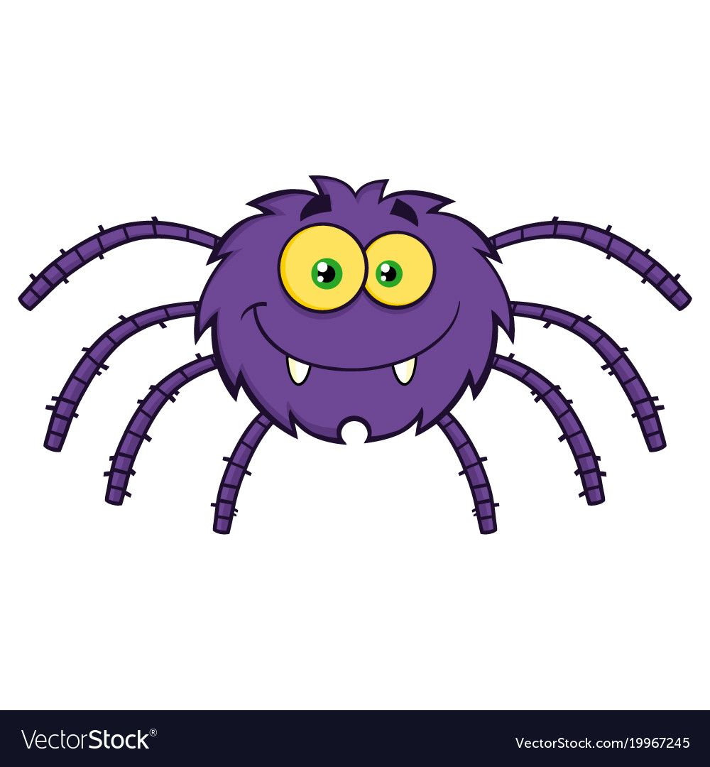 Funny Spider Cartoon Character Illustration Isolated On White Download A Free Preview Or High Quality Adobe Illu Spider Cartoon Spiders Funny Animated Spider