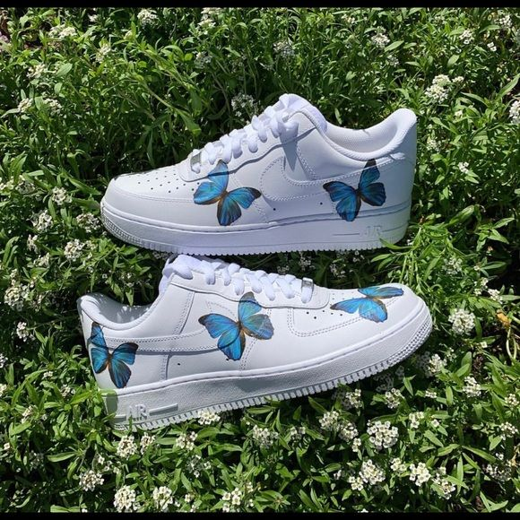 Nike Shoes Custom Butterfly Air Force 1s Poshmark