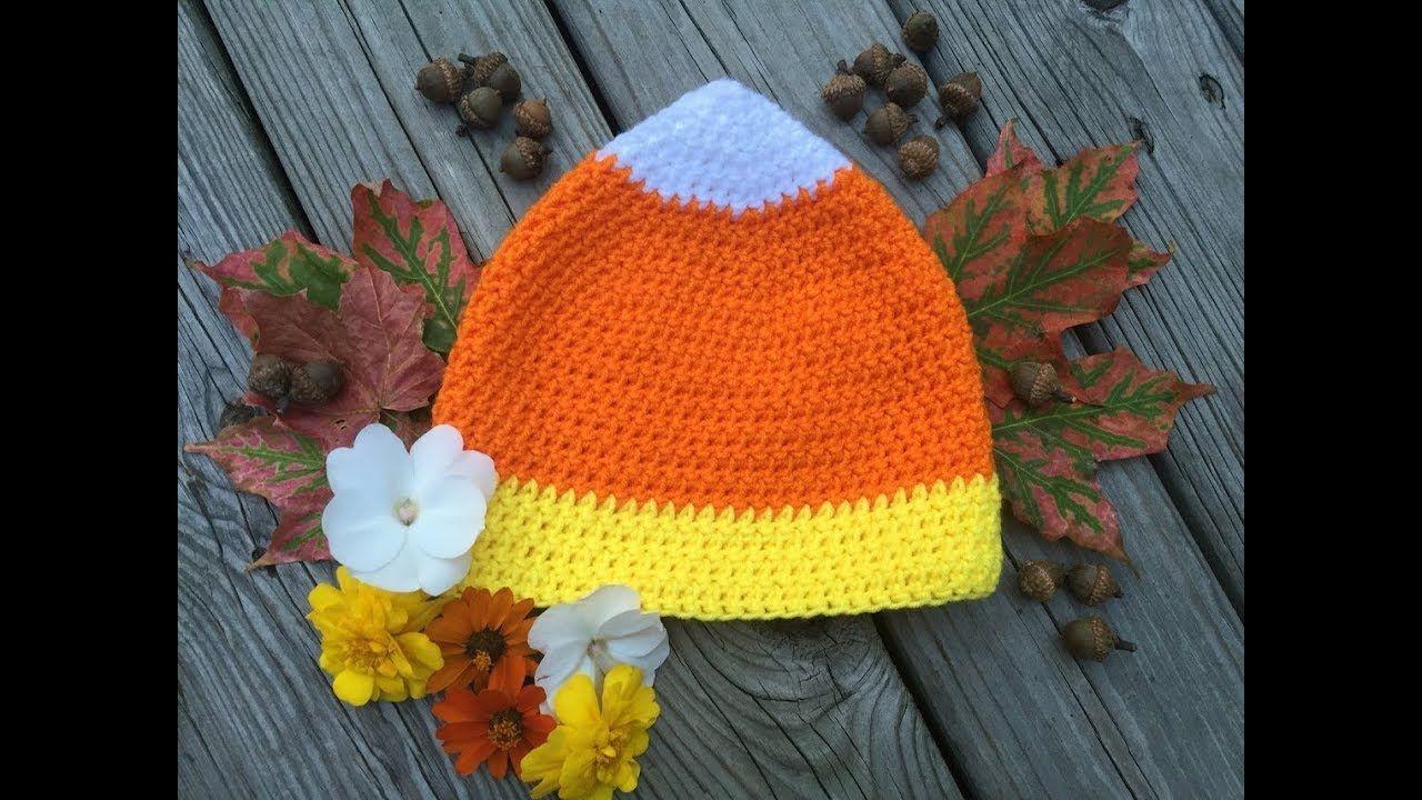 Candy Corn Hat- Free Crochet Pattern (size child-adult) - YouTube ...