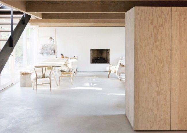 Prachtig huis in de bergen met white washed hout en keukenblad van