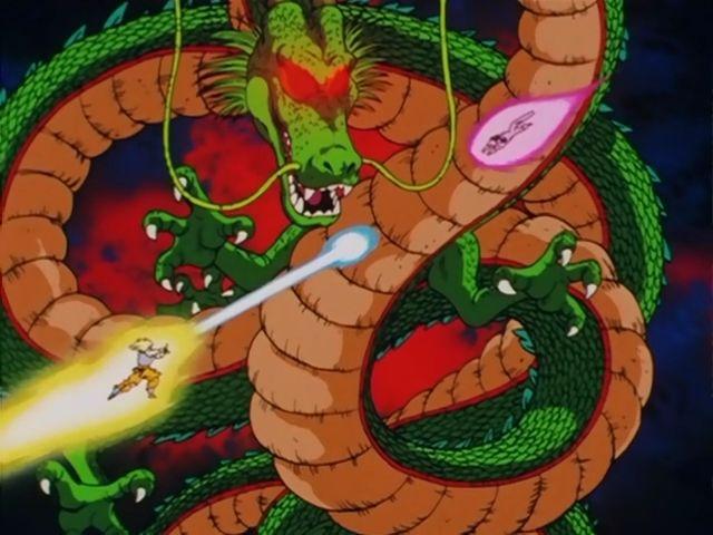 Shenron Vs Porunga Google Search Dragonball Z Personagens
